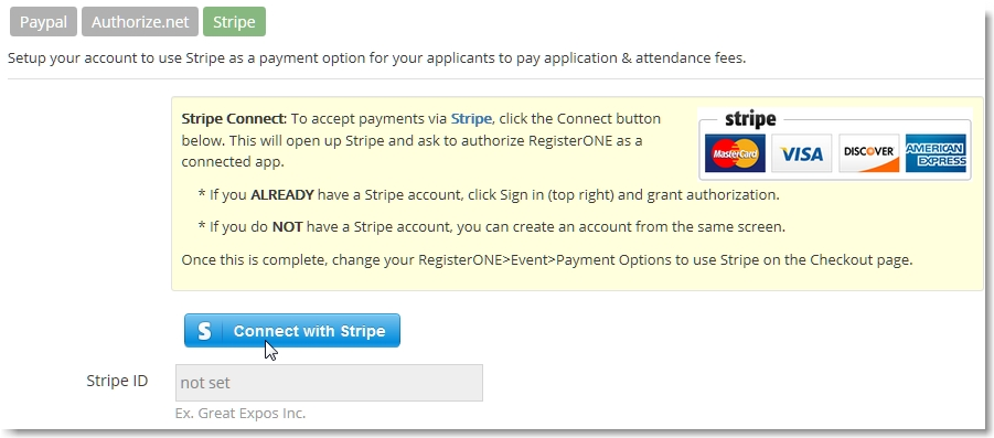 WP Plugin v1 1 9 – Exhibitor payments through Stripe