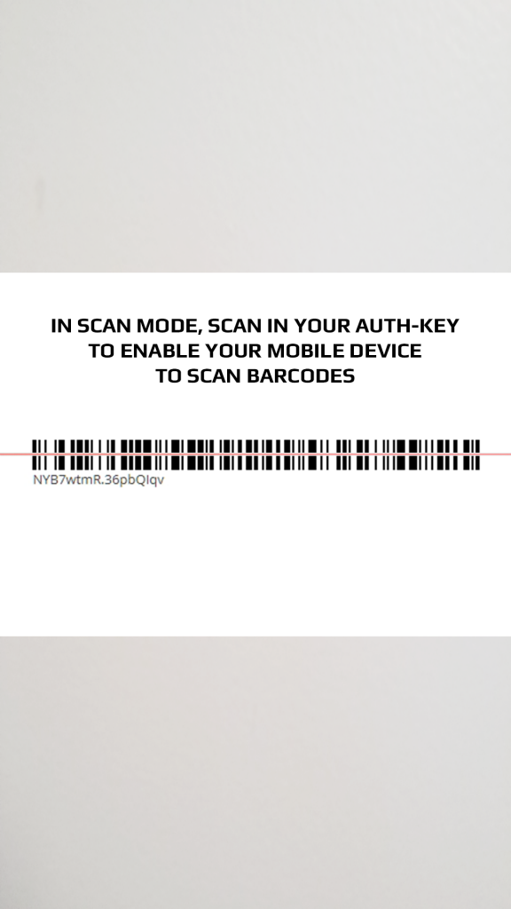 scan in your barcode