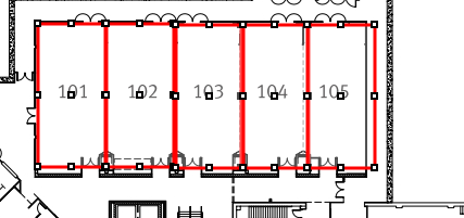 Plotted booths on the map