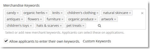 vendor keywords